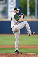 Fort Wayne TinCaps pitcher Jeffery Enloe (15) delivers a pitch during a game against the Lake County Captains on August 21, 2014 at Classic Park in Eastlake, Ohio.  Lake County defeated Fort Wayne 7-8.  (Mike Janes/Four Seam Images)