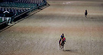 September 2, 2020: Morning workers exercise in the relative quiet as horses prepare for the 2020 Kentucky Derby and Kentucky Oaks at Churchill Downs in Louisville, Kentucky. The race is being run without fans due to the coronavirus pandemic that has gripped the world and nation for much of the year. Scott Serio/Eclipse Sportswire/CSM