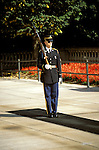 DC: Washington, DC Monuments, Military Honor Guard at the Tomb of the Unknown Soldier, Arlington National Cemetery, Arlington, VA  .Photo Copyright Lee Foster, lee@fostertravel.com, www.fostertravel.com, (510) 549-2202.Image washdc208