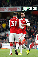 GOAL - Olivier Giroud of Arsenal makes it 5-0 during the Premier League match between Arsenal and Huddersfield Town at the Emirates Stadium, London, England on 29 November 2017. Photo by Carlton Myrie / PRiME Media Images.