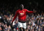 9th February 2019, Craven Cottage, London, England; EPL Premier League football, Fulham versus Manchester United; Romelu Lukaku of Manchester United gives directions