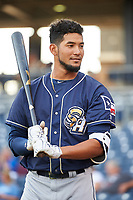 San Antonio Missions Jose Rondon (13) before a game against the Tulsa Drillers on June 1, 2017 at ONEOK Field in Tulsa, Oklahoma.  Tulsa defeated San Antonio 5-4 in eleven innings.  (Mike Janes/Four Seam Images)