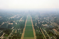 Washington D. C. : Capitol and Mall from Washington Monument. Photo '85.