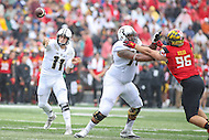 College Park, MD - October 1, 2016: Purdue Boilermakers quarterback David Blough (11) passes the ball during game between Purdue and Maryland at  Capital One Field at Maryland Stadium in College Park, MD.  (Photo by Elliott Brown/Media Images International)