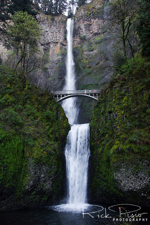 Multnomah Falls along the Columbia River in Northern Oregon