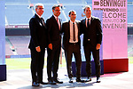 Presentation of Ernesto Valverde as new Coach of FC Barcelona.<br /> Jordi Mestre, Josep Maria Bartomeu, Ernesto Valverde &amp; Robert Fernandez.
