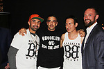 "Chris Kerson & Patrick Borriello & William DeMeo- Brooklyn, New York celebrates Actor William DeMeo's upcoming role in Gotti film in which he plays Sammy ""The Bull"" Gravano in a block party on May 23, 2018 along with cast.  (Photo by Sue Coflin/Max Photos)"