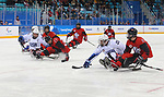 Pyeongchang, Korea, 18/3/2018-Liam Hickey  compete in the gold medal ice game against the USA during the 2018 Paralympic Games. Photo: Scott Grant/Canadian Paralympic Committee.