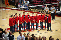 STANFORD, CA - November 4, 2018: Choir at Maples Pavilion. No. 2 Stanford Cardinal defeated the Utah Utes 3-0.
