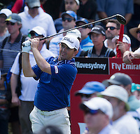 Greg Chalmers of Australia in action during his second round at the Emirates Australian Open Golf