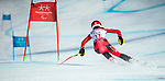 PyeongChang 13/3/2018 - Erin Latimer skis in the super-G portion of the super combined at the Jeongseon Alpine Centre during the 2018 Winter Paralympic Games in Pyeongchang, Korea. Photo: Dave Holland/Canadian Paralympic Committee
