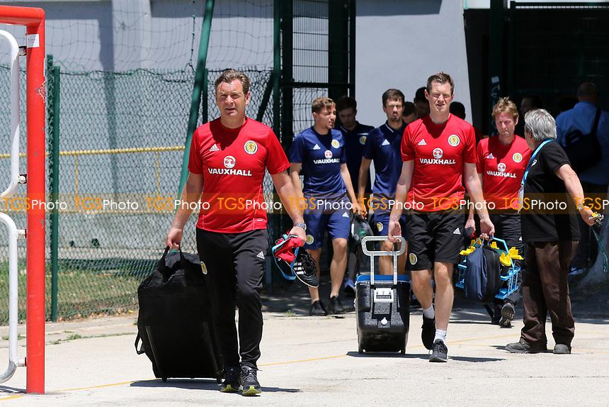 Peter Grant, Scotland's U21 Assistant Coach arrives at the ground during Czech Republic Under-20 vs Scotland Under-20, Toulon Tournament Football at Stade de Lattre-de-Tassigny on 10th June 2017