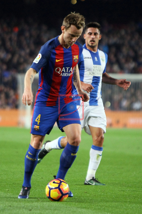 League Santander 2016/2017. Game: 23.<br /> FC Barcelona vs CD Leganes SAD: 2-1.<br /> Ivan Rakitic.