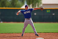 Texas Rangers Blaine Prescott (80) during an instructional league game against the Seattle Mariners on October 5, 2015 at the Surprise Stadium Training Complex in Surprise, Arizona.  (Mike Janes/Four Seam Images)