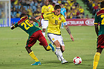 James Rodriguez of Colombia and Mabouka of Camerun during the friendly match between Camerun and Colombia in Madrid, Spain 13 jun 2017.(ALTERPHOTOS/Rodrigo Jimenez)