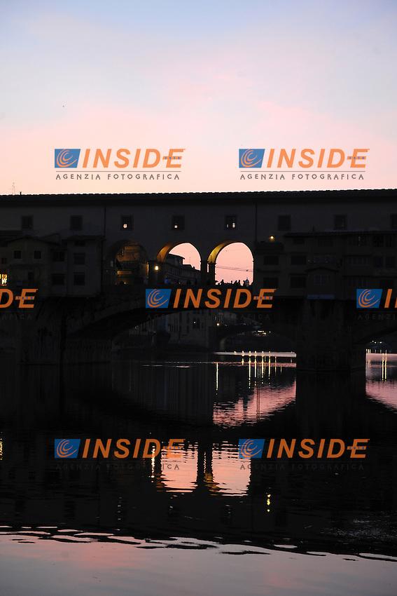 Firenze Ponte Vecchio.Firenze 27/3/2012.Foto Insidefoto / Guido Aubry
