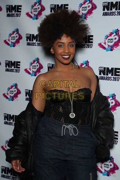 Jade Avia<br /> The VO5 NME Awards 2017 at the O2 Academy, Brixton, London on February 15th 2017<br /> CAP/GOL<br /> &copy;GOL/Capital Pictures