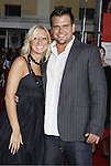"""Sharon Obermueller and Ryan Quicksall arrive at the Premiere Of Fox's """"What Happens In Vegas"""" on May 1, 2008 at the Mann Village Theatre in Los Angeles, California."""