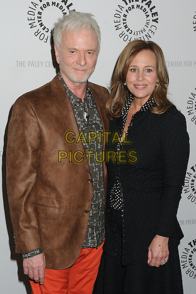 Anthony Geary, Genie Francis.General Hospital: Celebrating 50 Years & Looking Forward held at The Paley Center, Beverly Hills, California, USA, 12th April 2013..half length brown jacket black .CAP/ADM/BP.©Byron Purvis/AdMedia/Capital Pictures