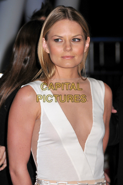 JENNIFER MORRISON.The Conga Room Grand Opening Celebration at Nokia LA Live, Los Angeles, California, USA..December 10th, 2008.half length white top sleeveless plunging neckline .CAP/ADM/BP.©Byron Purvis/AdMedia/Capital Pictures.
