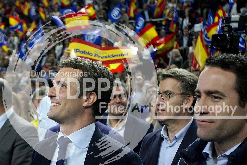 The closing of the campaign of the PP (Partido Popular) party, on Sunday the 28th are the general elections, at WiZink Center in Madrid on April 26, 2019.<br />