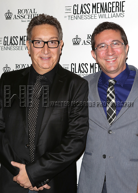 Moises Kaufman & partner Jeffrey LaHoste  attends the Broadway Opening Night Performance of 'The Glass Menagerie' at the Booth Theatre in New York City on September 16, 2013.
