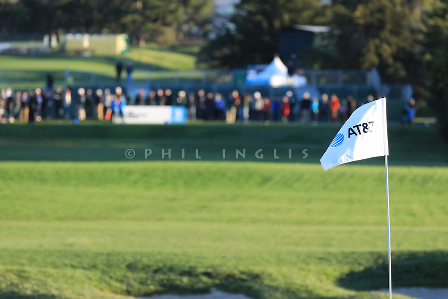 17th green during the final round of the AT&T Pro-Am, Pebble Beach Golf Links, Monterey, USA. 11/02/2019<br /> Picture: Golffile | Phil Inglis<br /> <br /> <br /> All photo usage must carry mandatory copyright credit (© Golffile | Phil Inglis)