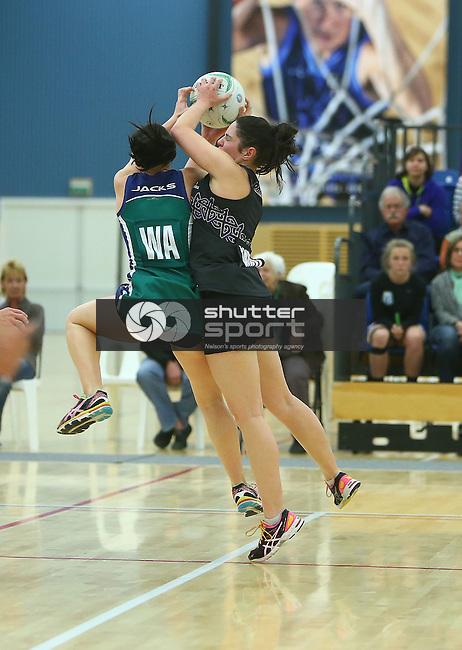 NELSON, NEW ZEALAND - September 12: Premier Netball Final: Jacks v Prices on September 12, 2015 at Saxton Stadium in Nelson, New Zealand. (Photo by: Evan Barnes Shuttersport Limited)