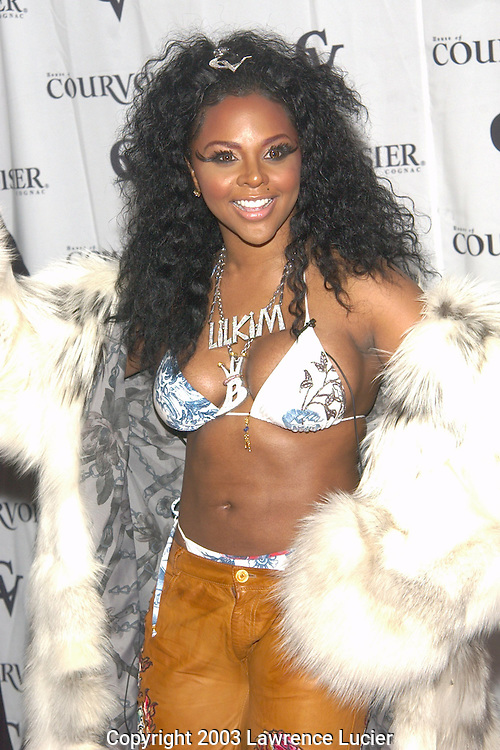 NEW YORK-MARCH 4: Recording artist Lil' Kim arrives at the release party for her new cd La Bella Mafia March 4, 2003, at Lobby in New York City.