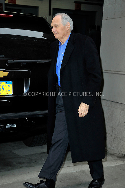 WWW.ACEPIXS.COM<br /> <br /> April 9 2015, New York City<br /> <br /> Actor Alan Alda made an appeareance at HuffPost Live on April 9 2015 in New York City<br /> <br /> By Line: Curtis Means/ACE Pictures<br /> <br /> <br /> ACE Pictures, Inc.<br /> tel: 646 769 0430<br /> Email: info@acepixs.com<br /> www.acepixs.com