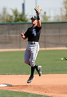 Gordon Beckham  -  Chicago White Sox - 2009 spring training.Photo by:  Bill Mitchell/Four Seam Images