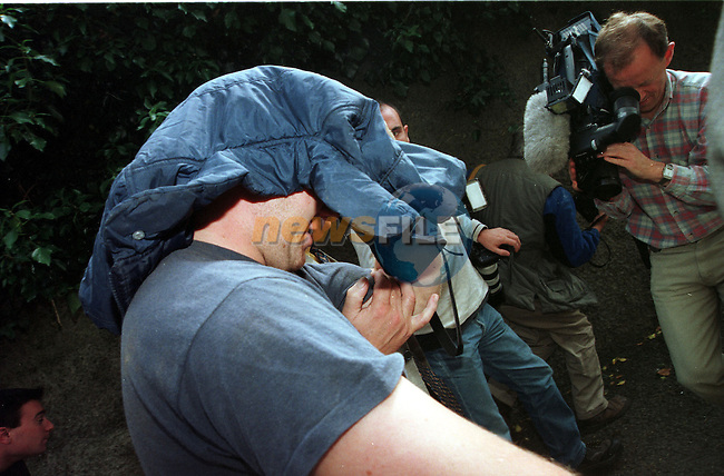 John McDonagh (25) from Carraroe Co.Galway charged with rape and murder of Soibhan Hynes on December 6th last coming out of Athboy court house after being charged..Pic Fran Caffrey / Newsfile.