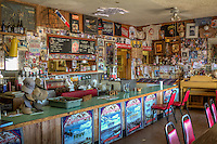 "The Bagdad Cafe in Newberry Springs California on Route 66.  Previously known as the Sidewinder Cafe, the owners changed the name after the movie ""Bagdad Cafe"" was filmed at the location."