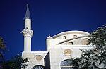 Minaret and mosque, Kayakoy, near Fethiye, Turkey