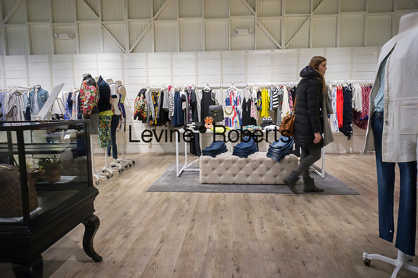 Shopping in the only brick and mortar store of the Gap's Piperlime online brand in the Soho neighborhood of New York on Saturday, January 24, 2015. The Gap announced that it is pulling the plug on the Piperlime brand, which never reached the company's expectation by the end of the first quarter of 2015.(© Richard B. Levine)