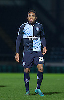 Brantford Loanee Jermaine Udumaga of Wycombe Wanderers makes his debut during the Sky Bet League 2 match between Wycombe Wanderers and Crawley Town at Adams Park, High Wycombe, England on 28 December 2015. Photo by Andy Rowland / PRiME Media Images