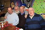 Joe Devlin, Jim Stafford, Noel Carter and Jim Sullivanat the money more residents christmas dinner..Picture Fran Caffrey www.newsfile.ie