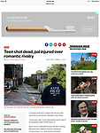 Fatal shooting left 1 teen dead and another teen injured during a shooting in Bushwick, Brooklyn. Shot for the New York Post.