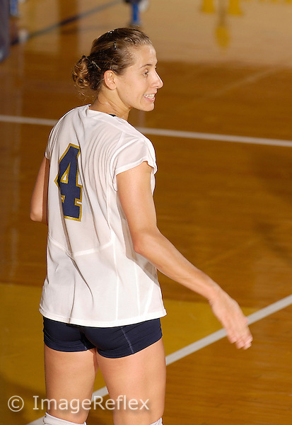 Florida International University Women's Volleyball versus New Orleans at Miami, Florida on Sunday, September 24, 2006.  The FIU Golden Panthers defeated New Orleans, 3-1 (26-30, 30-25, 30-21, 30-24)...Junior setter Keila Oliveira (4).
