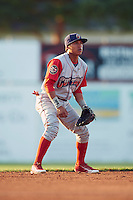 Williamsport Crosscutters shortstop Grenny Cumana (2) during a game against the Batavia Muckdogs on July 15, 2015 at Dwyer Stadium in Batavia, New York.  Williamsport defeated Batavia 6-5.  (Mike Janes/Four Seam Images)
