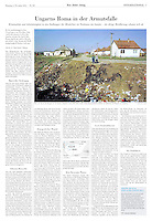 Neue Zürcher Zeitung NZZ (Swiss daily) on Gypsy life in Hungary, 2012.11.06.<br />