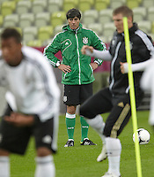 EURO 2012 - POLAND - Gdansk - 21 JUNE 2012 - Germany Offcial MD-1 Training Session at PGE Arena of Gdansk. German head coach Joachim L?w at the truing session.