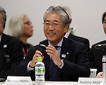 December 21, 2016, Tokyo, Japan - Japan Olympic Committee (JOC) chairman Tsunekazu Takeda speaks at the meeting of the four-party working group, Tokyo metropolitan government, IOC, Tokyo 2020 Olympics organising committee and Japanese government in Tokyo on Wednesday, December 21, 2016.  Tokyo 2020 Organising Committee estimated total cost of 1.6 to 1.8 trillion yen for the Olympic and Paralympic games.  (Photo by Yoshio Tsunoda/AFLO) LWX -ytd-