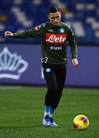 26th January 2020; Stadio San Paolo, Naples, Campania, Italy; Serie A Football, Napoli versus Juventus; Jose Maria Callejon of Napoli pre-game warm up