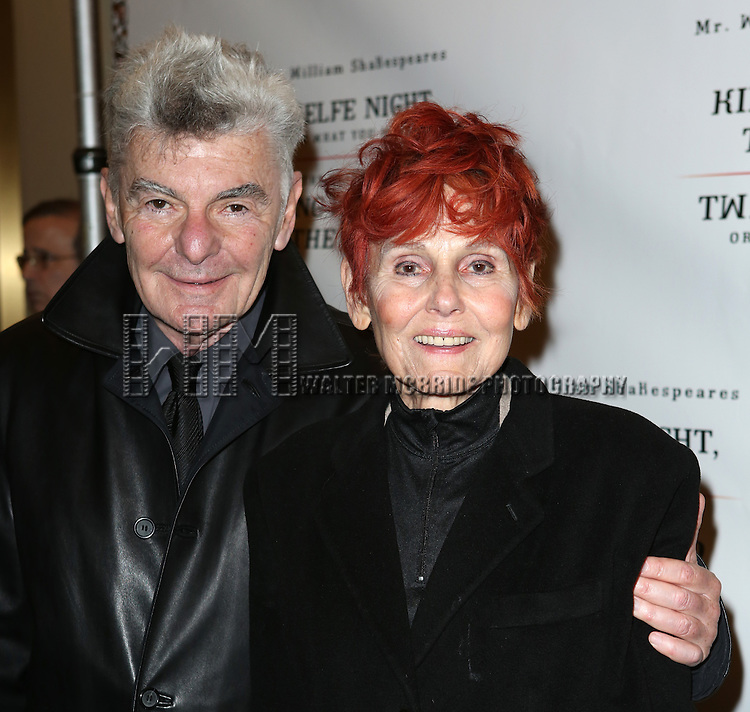 Richard Benjamin and Paula Prentiss attend the Broadway Opening Night Performance of 'Twelfth Night' at the Belasco Theatre on November 10, 2013 in New York City.