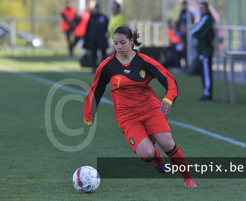 UEFA Women's Under 17 Championship - Second Qualifying round - group 1 : Belgium - England : .Lola Wajnblum.foto DAVID CATRY / Vrouwenteam.be