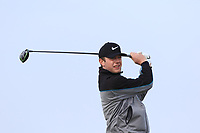 Hugh Foley (Royal Dublin) on the 1st tee during Round 3 of The West of Ireland Open Championship in Co. Sligo Golf Club, Rosses Point, Sligo on Saturday 6th April 2019.<br /> Picture:  Thos Caffrey / www.golffile.ie
