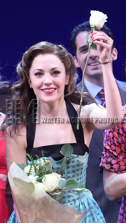Laura Osnes during the Broadway Opening Night Curtain Call Bows of 'Bandstand' at the Bernard B. Jacobs Theatre on 4/26/2017 in New York City.