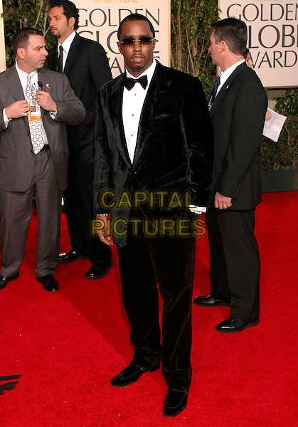 P DIDDY, PUFF DADDY, SEAN COMBS.62nd Annual Golden Globe Awards, Beverly Hills, Los Angeles, California.January 16th, 2005.full length, tuxedo, hand in pocket, sunglasses, shades.www.capitalpictures.com.sales@capitalpictures.com.Supplied by Capital Pictures.
