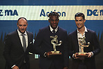 Antonio Cabrini poses with Cristiano Ronaldo of Juventus and Duvan Zapata of Atalanta pictured with their a best striker awards the The Italian Footballers Association Grand Gala of Football at the Megawatt Court, Milan. Picture date: 2nd December 2019. Picture credit should read: Jonathan Moscrop/Sportimage